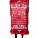 High Quality 1 x 1m Fire Blanket in Vinyl Pouch