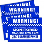 Alarm Warning Stickers (4 pack) A4 Size