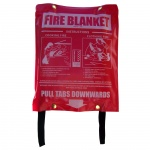 High Quality 1.8m x 1.8m Fire Blanket in Vinyl Pouch