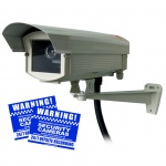 Professional Outdoor CCTV Camera replica con alloggiamento resistente